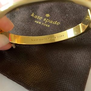 kate spade Jewelry - Kate Spade Pink and Gold Bangle Bracelet New